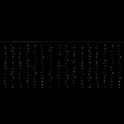 Cascade 4x1,3 mètres 300 LEDs animés blanc chaud