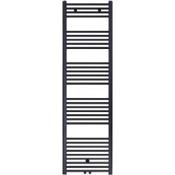 Radiateur sèche-serviette H180x50cm noir mat