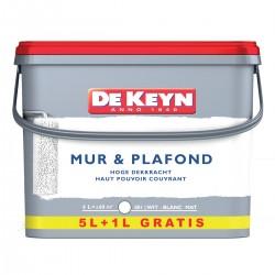 DE KEYN mur & plafond blanc mat 5+1 litres