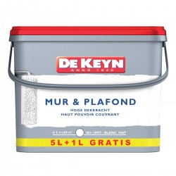 DE KEYN mur & plafond blanc saint 5+1 litres