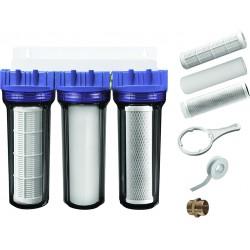 Kit de filtration triple impuretés/charbon