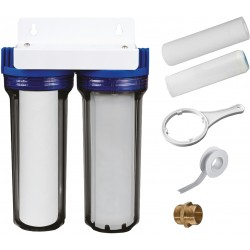 Kit de filtration double impuretés/calcaire