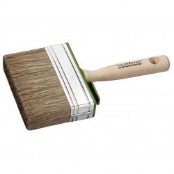 Brosse carrée  pour lasure avec manche en bois 3 x 12 cm