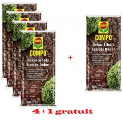 5 sacs COMPO Ecorces Dekor 4+1 GRATUIT