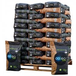 Palette pellets Caleo DIN + NOUVEAU FORMAT 65 SACS